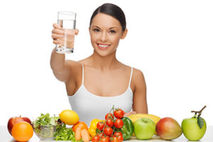 Water plus healthy diet makes you healthy