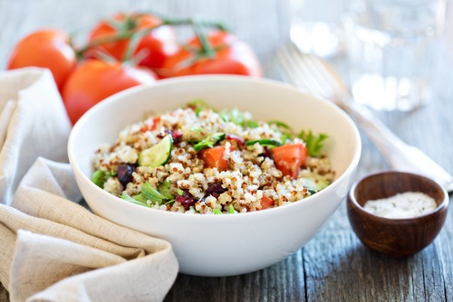 rice and vegetable mixed bowl