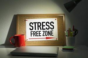 stress free zone on cork board