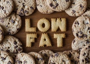 low fat letter cookies, choco chip cookies