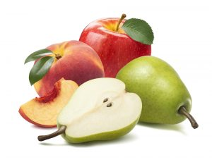 organic apple peach and pear great