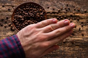 rejecting coffee beans