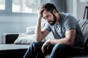 depressed tired man