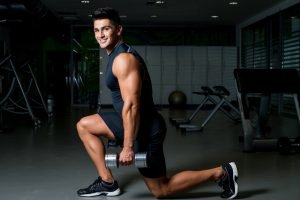 dumbbell lunges