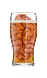 brain in a pint of beer