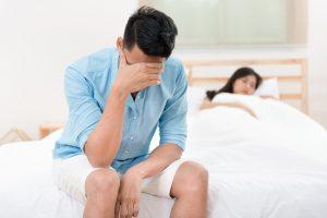 man having sexual dysfunction