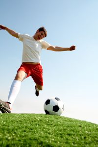 energetic soccer player